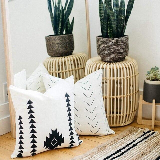 6 pièces Design moderne 100% Faux cuir qualité décoratif jeter oreiller couvre seulement pour canapé, canapé ou lit-2 pièces 12 pouces X 20 I