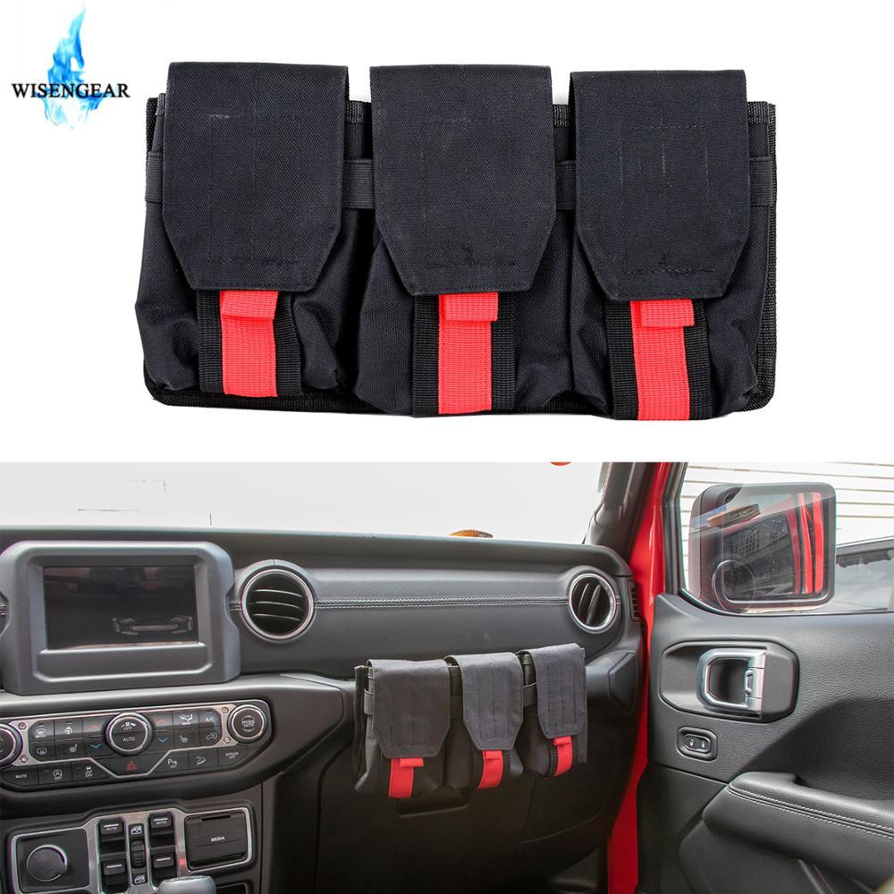 Passenger Copilot Seat Grab Bar Handle Bag Multi Pocket Organizer Storage Bag Cargo Tool Bag For Jeep Wrangler JK JL 2007 2018|Stowing Tidying| |  - title=