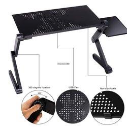 Katlanır dizüstü bilgisayar masası bilgisayar masası yatak servis tepsisi taşınabilir Mini piknik masası dizüstü el standı okuma tutucu Mouse Pad ile