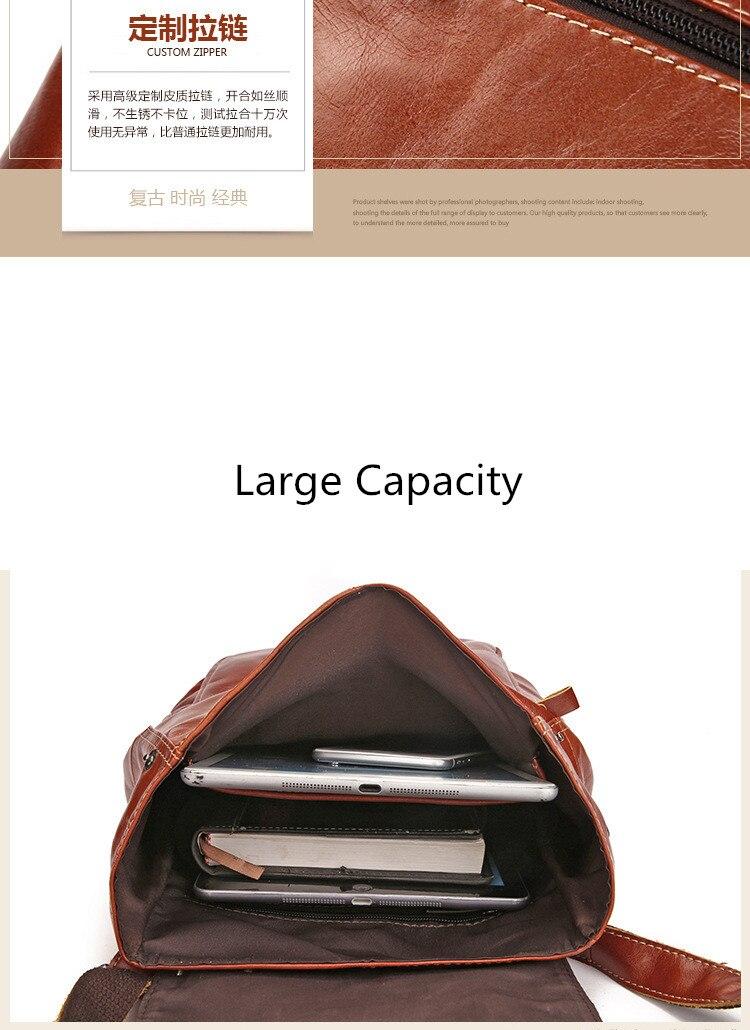 Qinranguio genuíno couro mochila feminina 100% couro