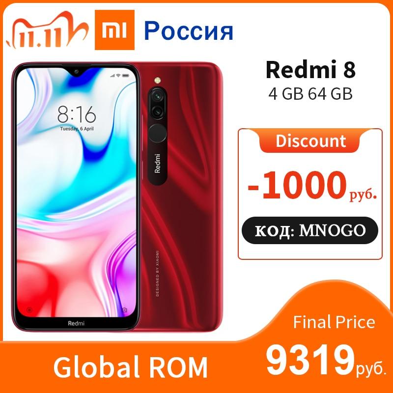 "In Stock Global ROM Xiaomi Redmi 8 4GB 64GB Snapdragon 439 Octa Core 5000mAh 12MP 6.22"" Full Screen MIUI 10 Mobile Phone|Cellphones| - AliExpress"