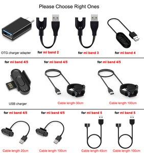 Image 2 - Зарядное устройство для Xiaomi Mi Band 2 3 4 5, зарядный кабель для передачи данных, док станция, зарядный кабель для Mi Band 5 4, зарядное устройство USB OTG адаптер