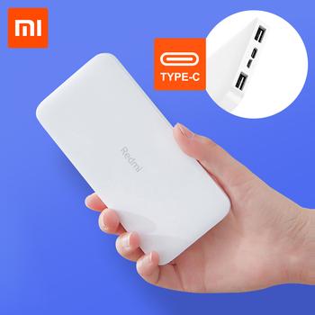 2019 nowy Xiaomi Redmi 10000mAh Power bank bateria zewnętrzna podwójne wejście usb wyjście dwukierunkowe ładowanie przenośne do telefonu tanie i dobre opinie Bateria litowo-polimerowa Rok wybudowania kable Podwójny USB Do kamery Do smartfona Micro Usb USB Typu C Metal Przenośny Power Bank