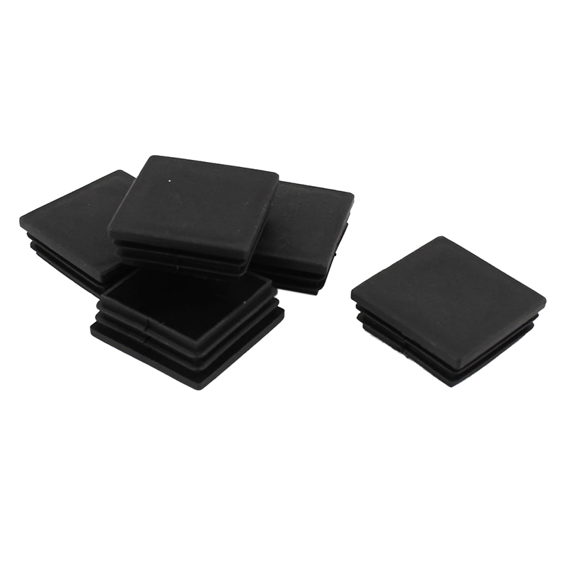 Promotion! Plastic Square Tubing Inserts End Blanking Cover Caps 50mmx50mm 5 Pcs