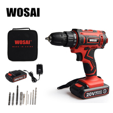 WOSAI 20V Cordless Screwdriver Electric Screwdriver Cordless Drill Power Tools Handheld Drill Lithium Battery Charging Drill