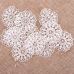 30pcs Beautiful White Color Net Lace Trim Embroidered Lace Ribbon For Sewing Wedding Decoration DIY 45mm