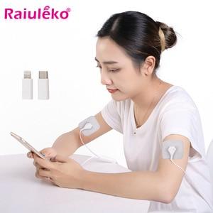 Портативный мини-массажер для тела, импульсный массажер, мобильный телефон, массажер для тела, стимулятор мышц EMS, терапия, мышечный массаже...