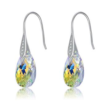 LEKANI Crystals From Swarovski Pear Drop Earrings With 925 Sterling Silver Classic Earring for Women Fine Jewelry Wedding Gifts