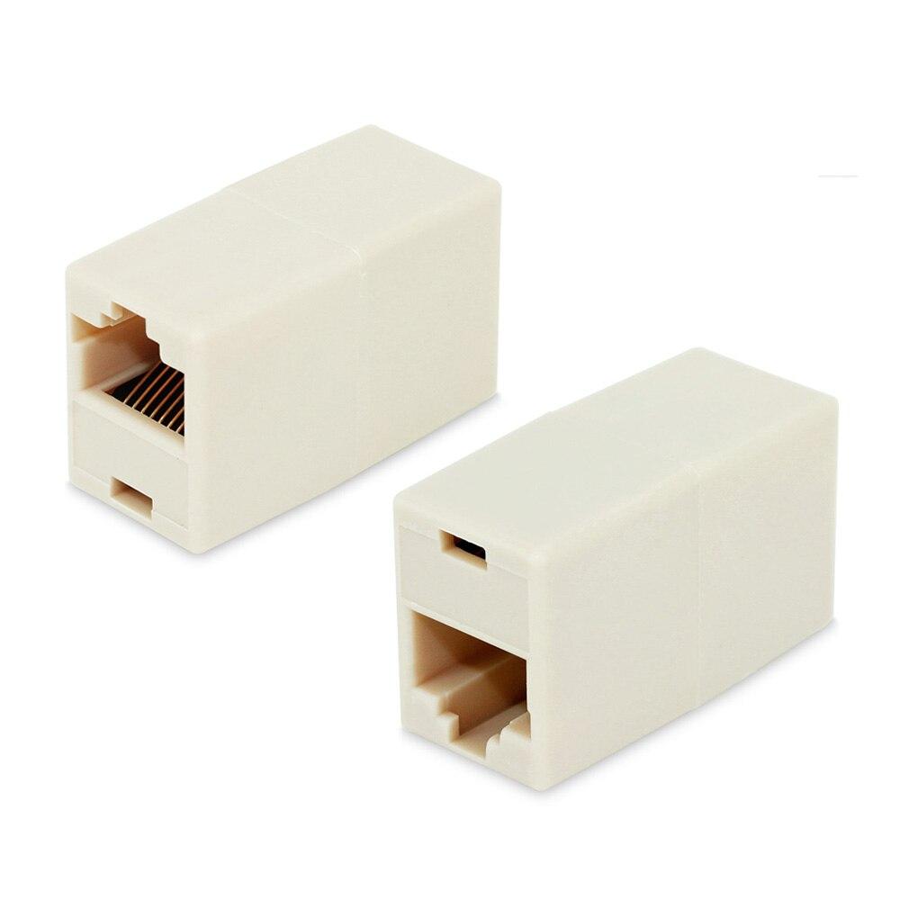 2pcs RJ45 Female To Female Network Ethernet LAN Splitter Connector Transfer Head RJ45 Adapter Coupler CAT5 Cat5e