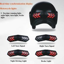 Motorcycle Helmet Light 12V Real-time Sync with Brake Lights and Turn Signal Accessories
