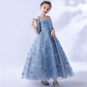 Image 4 - 2020Luxury Exquisite Design Children Girls Sequined Birthday Evening Party Ceremony Princess Prom Dress Kids Host Catwalk Dress