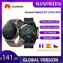 HUAWEI-reloj inteligente Watch GT 2 Pro/GT2, con GPS, batería de 14 días de duración, carga inalámbrica de oxígeno en sangre, Kirin A1, versión Global Original