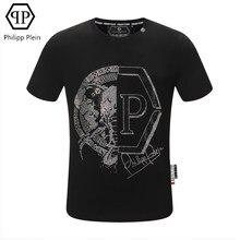 Philipp Plein-européen américain mode T-shirt PP personnalité diamant chaud à manches courtes T-shirt été haut t-shirts