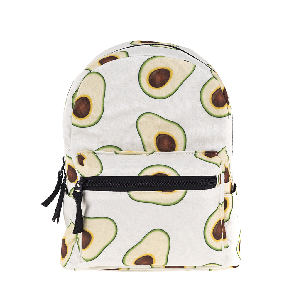 1pcs Mini Children Backpack School Bag Avocado Printing Storage Oxford Fabric Backpack For Girl Child Kid