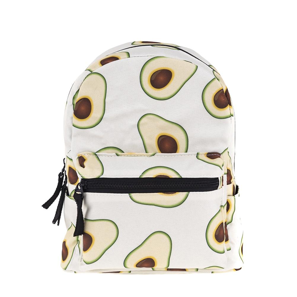 1pcs Mini Children Backpack School Bag Avocado Printing Storage Oxford Fabric Backpack For Girl Child Kid