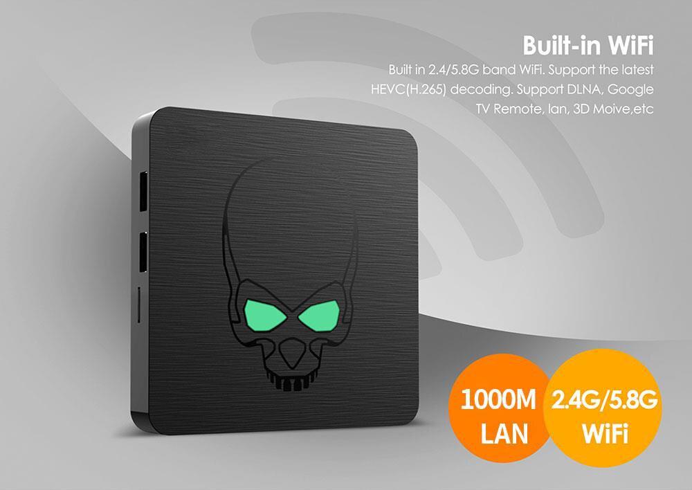 In Lager GT-König Android 9,0 TV BOX Amlogic S922X GT König 4G DDR4 64G EMMC Smart TV Box 2,4G + 5G Dual WIFI 1000M LAN mit 4K