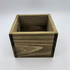 Image 2 - 8 unids/lote D11xH8CM cubo caja de madera cajas de almacenamiento de madera SF 05225