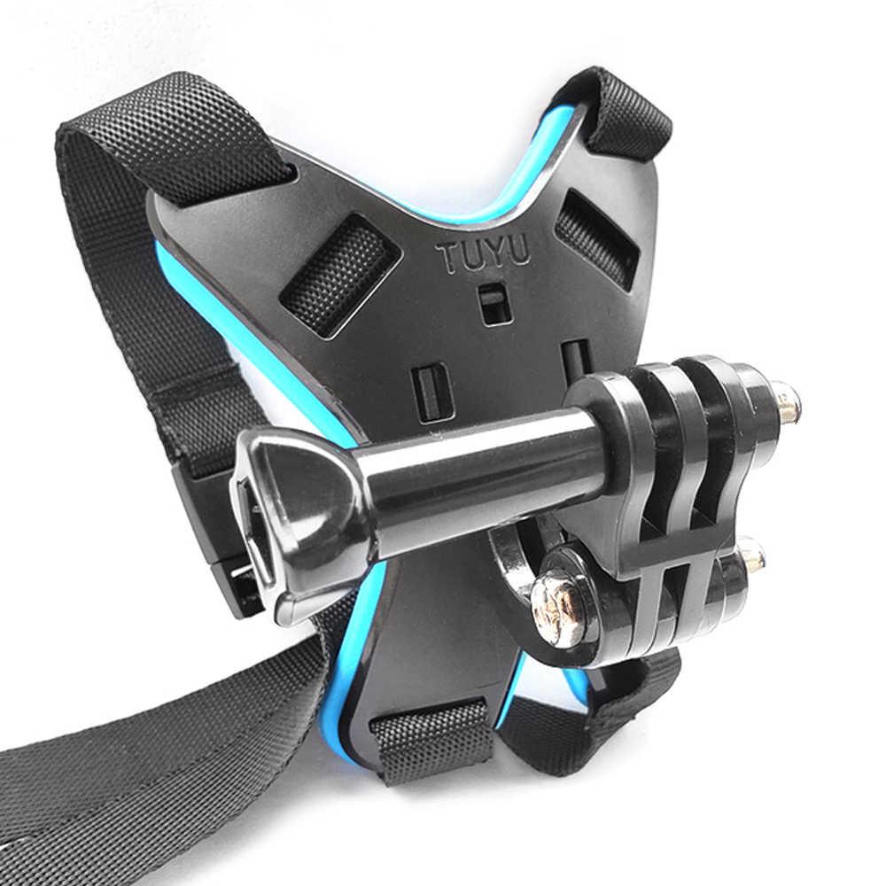 TUYU kask fullface podbródek uchwyt do GoPro Hero 8/7/6/5 SJCAM kask motocyklowy podbródek stojak na akcesoria do kamery Gopro 6/5