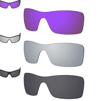 SmartVLT 3 szt Spolaryzowane okulary wymienne soczewki do Oakley Batwolf-fioletowe fioletowe i srebrne tytanowe i solidne czarne tanie i dobre opinie Poliwęglan Okulary akcesoria UV400 Fits For Oakley Batwolf