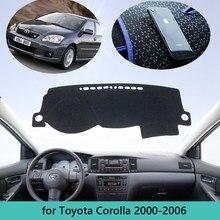 Коврик для приборной панели Toyota Corolla E120 E130 2000 2001 2003 2004 2005 2006, аксессуары, коврик для защиты от солнца
