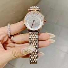 Luxury Women Watches Diamond Silver Crystal Watch