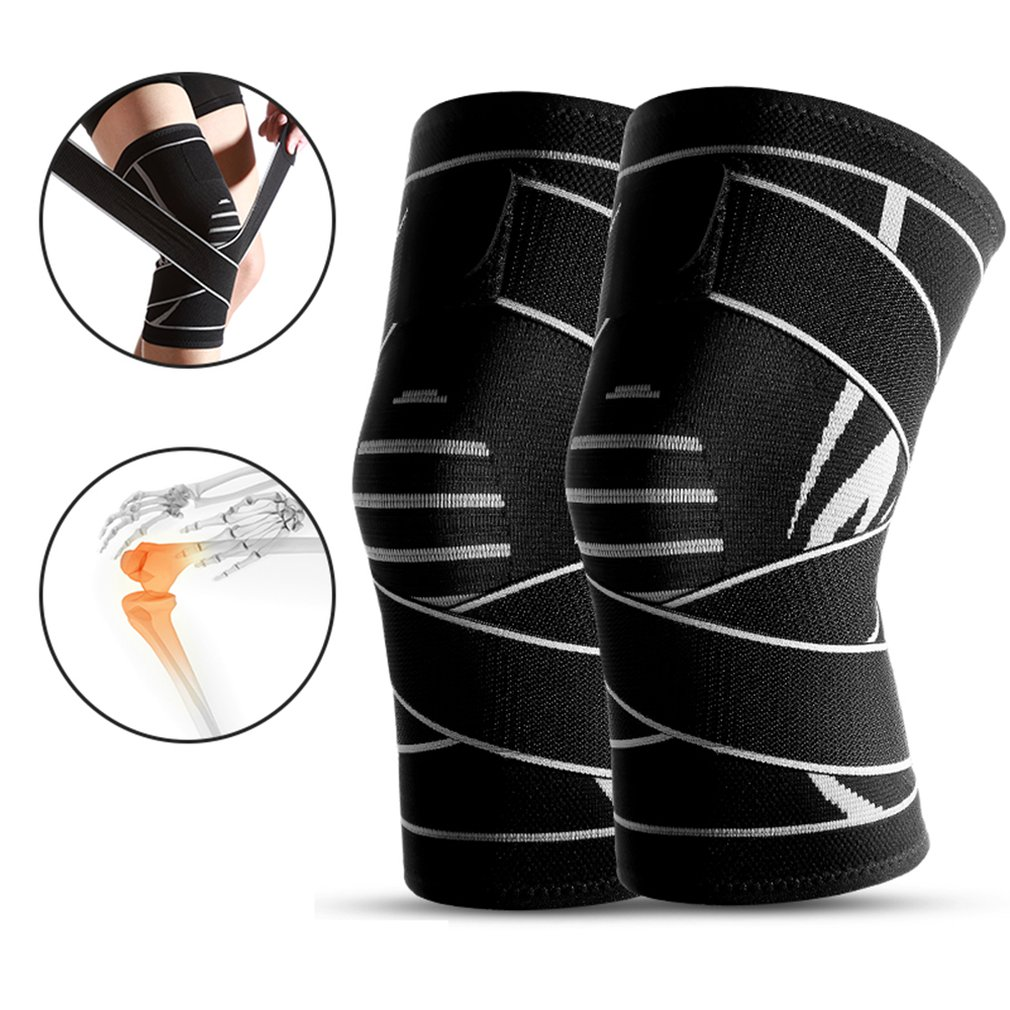 1 Pc Knit Knee Pads Durable Nylon Knees Brace Sports Protecting Pads Ultra Thin Knees Support Safety Kneepad Hot