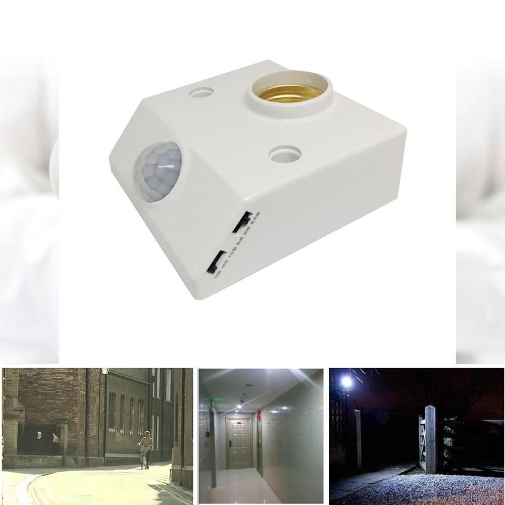 E27 AC 85-265V Infrared Motion Sensing Switch Infrared Motion Sensor Automatic Light Lamp Holder Switch Intelligent Light