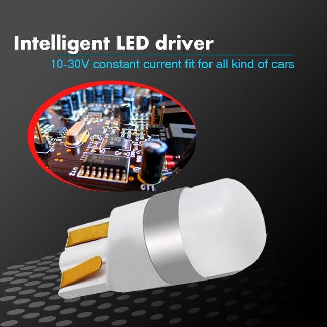 1 pièces 3030 SMD 350LM T10 W5W LED voiture dégagement lumières lecture lampe Auto véhicule dôme porte ampoule accessoires blanc pur 6000K 3