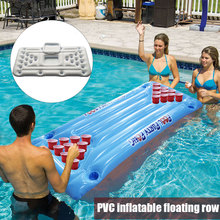 Cooler Water Pool-Float Pong-Table Air-Mattress Float-Fou99 Beer Party Fun Summer 24/28-Cup-Holder