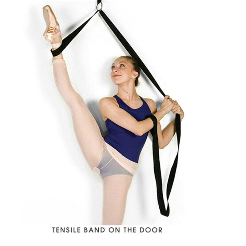 Cinta de alongamento de porta, flexibilidade para balé, ginástica, yoga, pernas de esticar