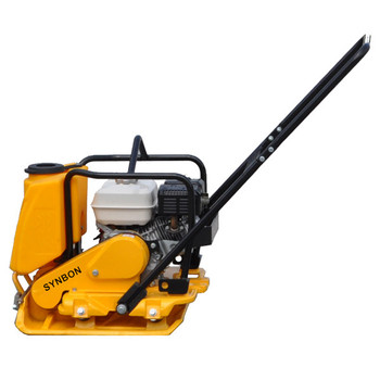Roboty budowlane w zakresie zagęszczarka płytowa maszyna wibrująca tanie i dobre opinie SYNBON CN (pochodzenie) SYC100 0-2 5km h 0 7mm 100Hz 18kN HONDA GX160 5 5hp 3600rpm 3 6L 517*505mm 910*680*790mm 100kg