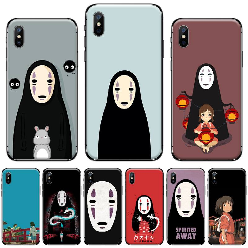 Spirited Away Faceless Man <font><b>Original</b></font> pattern Phone <font><b>Case</b></font> Cover For <font><b>iphone</b></font> 5 5s <font><b>5c</b></font> se 6 6s 7 8 plus x xs xr 11 pro max image