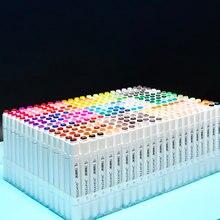 Touchfive marcadores de tinta de álcool conjunto de marcadores de desenho de manga caneta com base em álcool esboço feltro-ponta twin escova caneta arte suprimentos