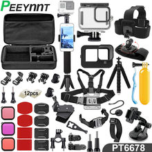 Peeynnt Accessories Kit for Gopro Hero 9 Black Waterproof Case Straps Selfie Monopod Tripods Screen Protector Mount for Go Pro 9