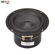 HIFIDIY LIVE مكبر صوت 4 بوصات 4.5 بوصة من Midbass ، وحدة 4 / 8 OHM 50W ، حوض اهتزازي من الألياف الزجاجية ، مكبر صوت BK BT4 أسود/أصفر