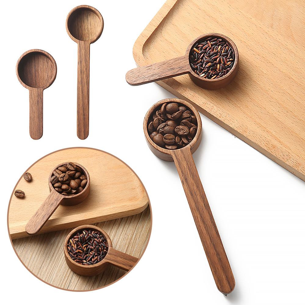 Wooden Measuring Spoon Set Kitchen Measuring Spoons Tea Coffee Scoop Sugar Spice Measure Spoon Measuring Tools for Cooking