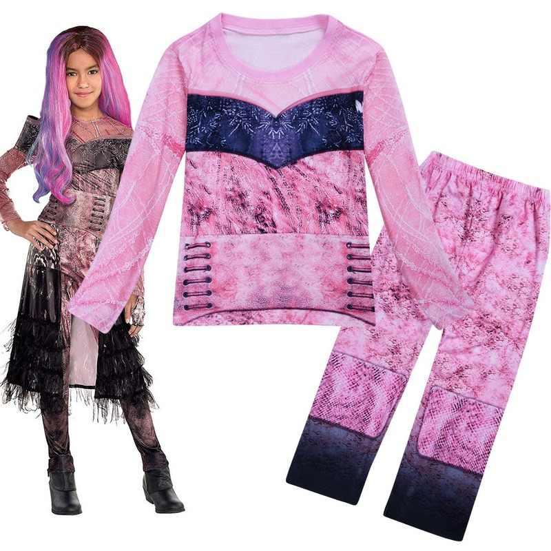 ลูกหลานสาวคอสเพลย์เครื่องแต่งกายฮาโลวีนเด็ก Vampirina วันหยุดสำหรับสาวคริสต์มาสชุดเสื้อผ้า 10 12 ปี