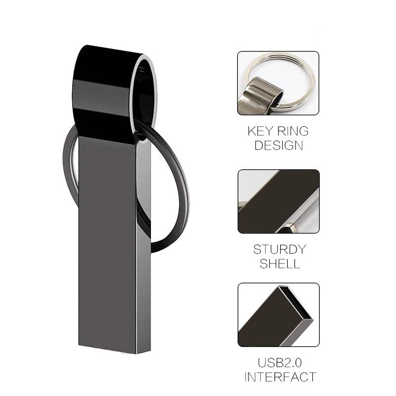 Mini Metal USB Flash Drive 128GB 64GB 32GB Cle Usb Flash Drive Portable 128GB Memory USB Stick Pendrive Storage Flash Disk