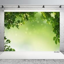 Foto de fundo folhas verdes bokeh computador impresso backdrops para crianças bebê retrato festa photoshoot fotografia adereços
