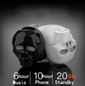 Image 2 - HUAIOU Skull Bone Bluetooth Earphone with Microphone Noise Cancelling Hi Fi Handsfree Bass Stereo Mini Micro Earbud Earpiece