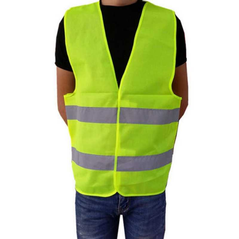 Chaleco reflectante de trabajo al aire libre ropa de seguridad correr carrera chaleco alta visibilidad fluorescente 360 grados alta visibilidad