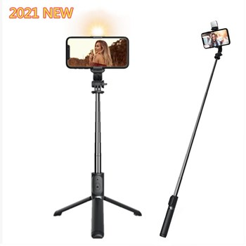 Roreta 2021 NEW 4 in 1 Wireless Bluetooth Selfie Stick With Tripod Foldable monopods universal for Smartphone Hot 1