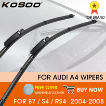 KOSOO Car Wiper LHD Front Wiper Blades For Audi A4 B7 S4 RS4 2004 - 2008 Windshield Windscreen Front Window 22