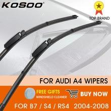 KOSOO araba sileceği LHD ön silecek lastikleri Audi A4 B7 S4 RS4 2004 - 2008 Windshield ön cam pencere 22