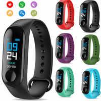 Pulsera inteligente M3 de frecuencia cardíaca para la salud de la presión arterial M3 Pro impermeable Bluetooth reloj inteligente pulsera rastreador de Fitness