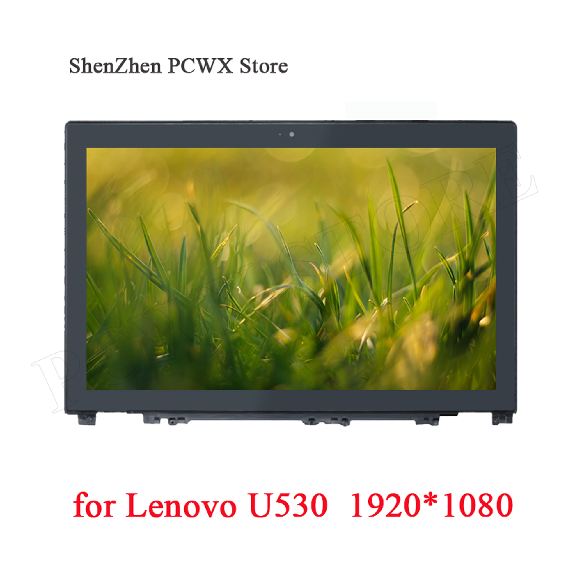 For Lenovo Ideapad U530 Touch Screen Assembly With Frame Glass Digitizer B156HTN03.4 FHD 1920*1080 30pin 15.6 Original LCD Panel