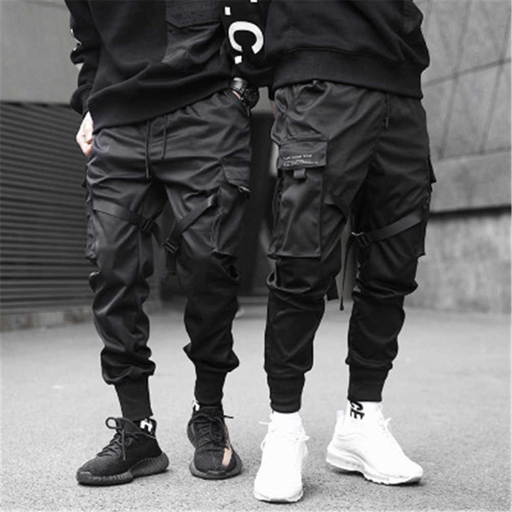 Mens Joggers Pants Black Trousers Sweat Pants Streetwear Dance Sports Sweatpants Casual Drawstring Hip Hop Pants Mens Clothing