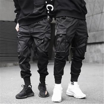 Męskie spodnie joggery czarne spodnie spodnie dresowe Streetwear tańca sportu spodnie dresowe dorywczo sznurkiem spodnie w stylu Hip Hop odzież męska tanie i dobre opinie Daddy Chen Spodnie krzyżowe Poliester Midweight 3202097 Pełnej długości Na co dzień REGULAR Suknem Kieszenie Sznurek