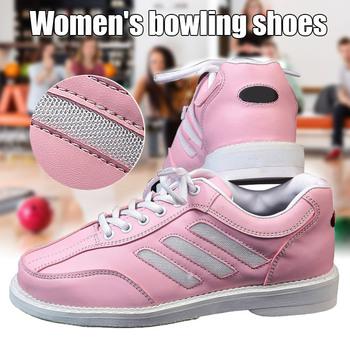 Sportowe buty do gry w kręgle akcesoria damskie buty do gry w kręgle tenisówki sportowe buty kobieta skórzane buty na płaskiej podeszwie ALS88 tanie i dobre opinie Swokii CN (pochodzenie) RUBBER Spring2019 Dobrze pasuje do rozmiaru wybierz swój normalny rozmiar Stretch Spandex Profesjonalne