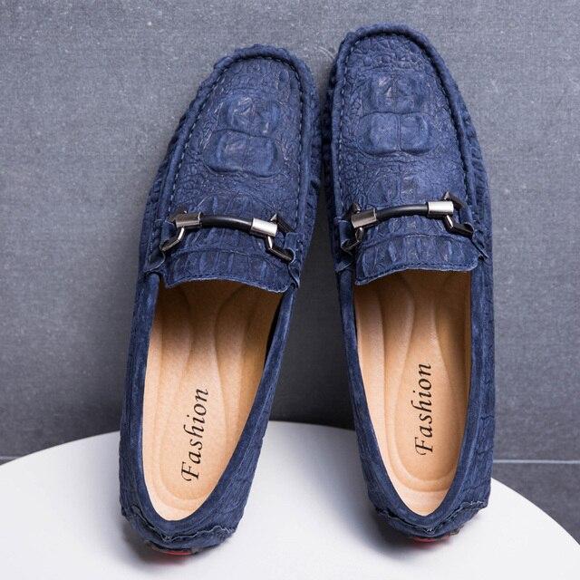 EMOSEWA מותג גודל 38 45 פרה זמש עור גברים דירות 2018 חדש גברים נעליים יומיומיות גבוהה באיכות גברים מוקסין נהיגה נעליים
